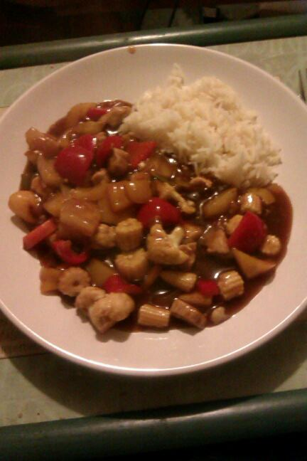 Home made sweet and sour pork